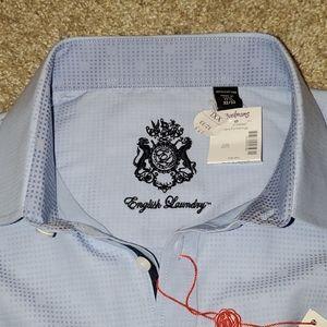 "English laundry 17.5"" XXL blue long sleeve shirt"